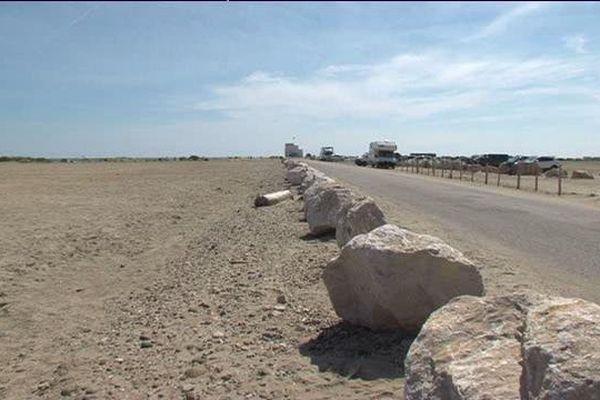 La plage de Piémanson aujourd'hui complètement déserte
