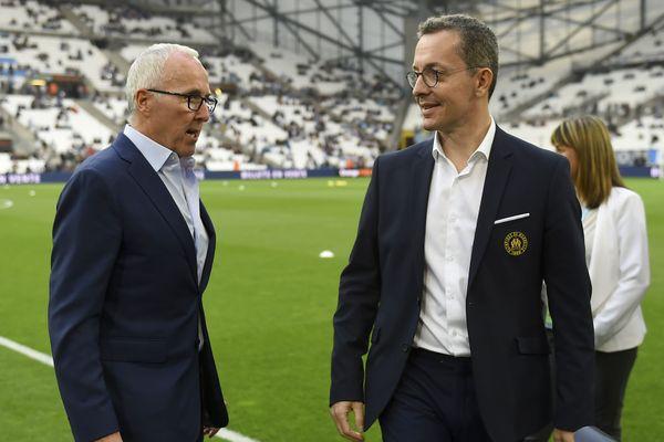 Le propriétaire américain de l'OM Frank McCourt et le président Jacques-Henri Eyraud.