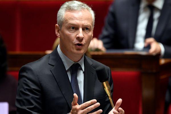Bruno Le Maire, le 4 octobre 2017, à l'Assemblée nationale