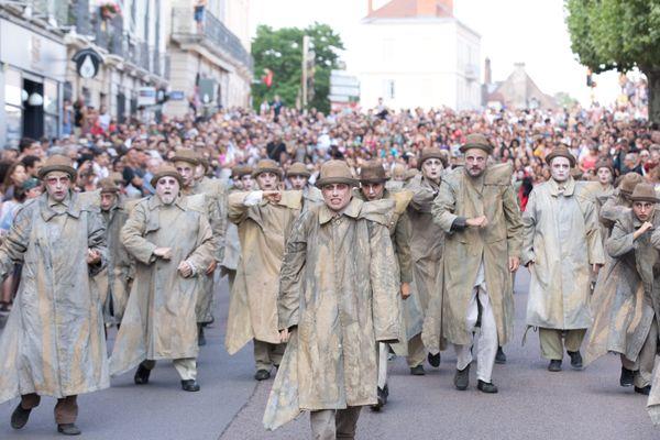La troupe Teatro del Silencio, à Chalon dans la rue en 2018. (archives)