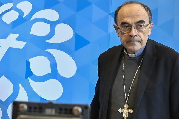 le Cardinal Barbarin, qui a démissionné de ses fonctions en début d'année