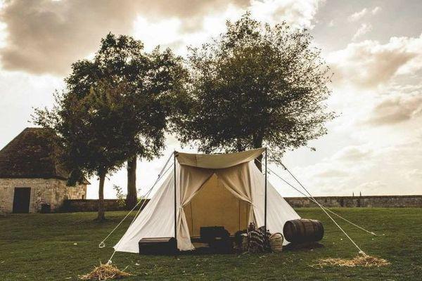 Une tente de l'Escape Game à la Commanderie d'Arville