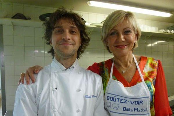 Odile Mattei et Claude Brioude, chef de l'Hôtel restaurant du Levant à Neyrac les Bains / Meyras en Ardèche