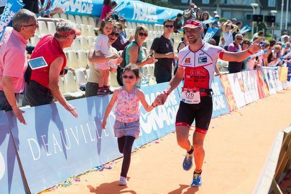 Freddy Pommier au triathlon de Deauville