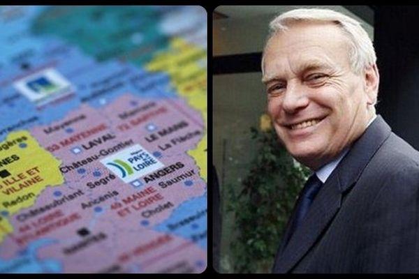 """Des élus socialistes du Grand Ouest soutiennent le projet de création d'une grande région """"Bretagne – Pays de la Loire"""" Parmi eux, l'ex premier ministre Jean-marc Ayrault"""