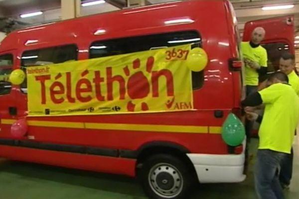 Les pompiers de Mâcon avaient pris part au Téléthon l'année dernière de façon très active (archives)