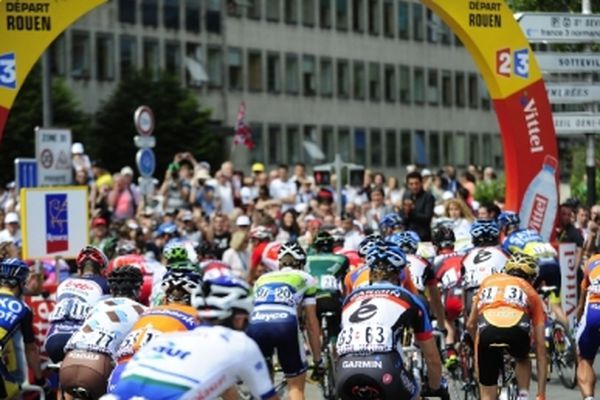 5 juillet 2012- Le départ de la 5e étape du Tour de France 2012 entre Rouen et Saint-Quentin - (Archives)