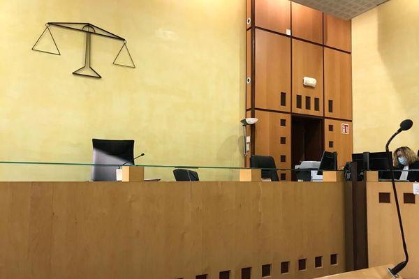 La salle d'audience du tribunal correctionnel de Nîmes, en novembre 2020 (photo d'illustration).