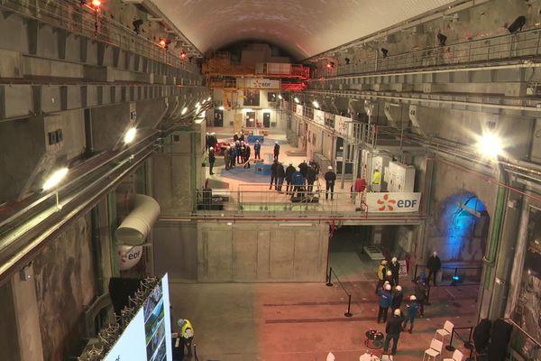 L'intérieur de la centrale hydroélectrique de Gavet, inaugurée le 9 octobre 2020 dans la vallée de la Romanche.