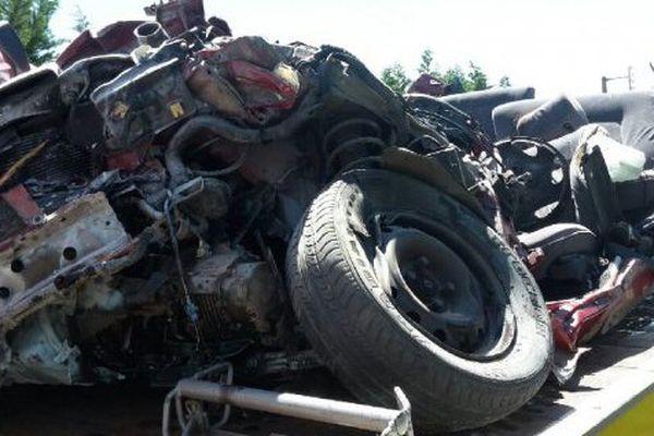 Le véhicule dans lequel 3 passagers sont morts le 30 juin à Saint-Jouin-de-Marnes.