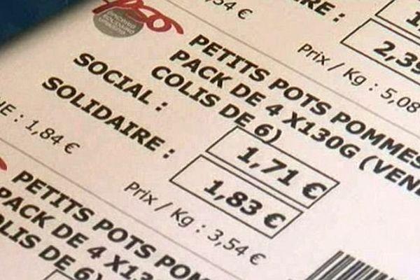Montpellier - un produit, 2 prix. C'est l'épicerie drive solidaire - 15 avril 2014.