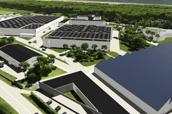 La future usine Safran à Tarnos dans les Landes