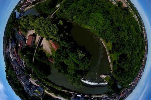 """Capture d'image issue du tournage """"Angoulême City-Tour VR"""""""