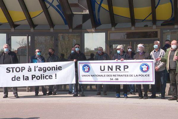 Rassemblement de policiers mardi 20 avril devant le tribunal de Nancy.