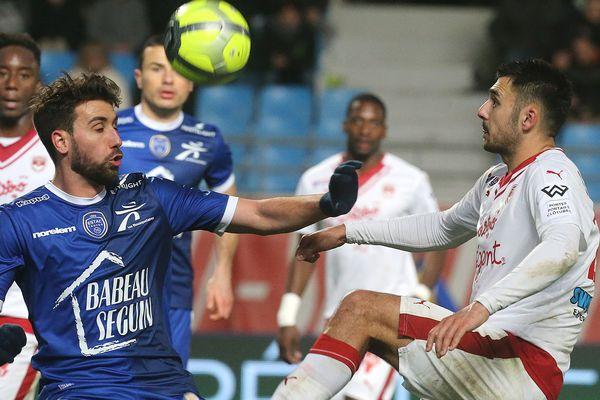Gaëtan Laborde (à droite sur la photo) lorsqu'il évoluait aux Girondins de Bordeaux