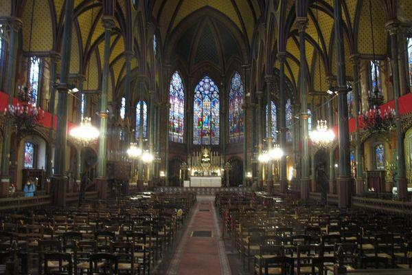 L'église Saint-Eugène-Sainte-Cécile à Paris (IXe arrondissement), mardi 6 avril.