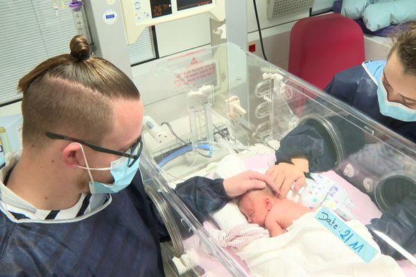 La petite Lauréline, née à 30 semaines de grossesse.