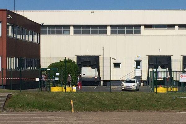 L'abattoir Tradival à Fleury-les-Aubrais, à l'arrêt, ce dimanche 17 mai.