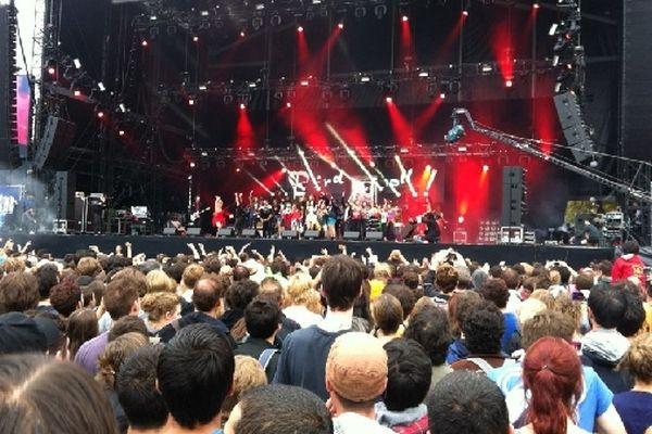 Le groupe Dionysos sur la scène de Rock en Seine, vendredi 24 août