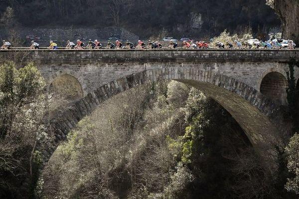 Image d'illustration, Paris-Nice 2017 entre Nice et le col de la Couillole lors de la septième étape.