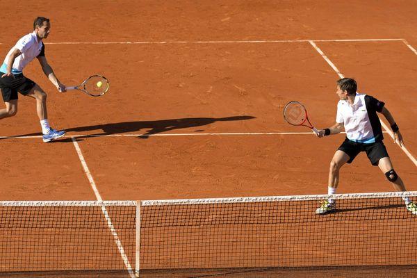 LLodra et Mahut lors des quarts de finales à Roland-Garros 2013