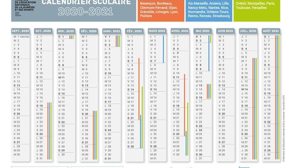 Éducation : téléchargez le calendrier scolaire et les dates des
