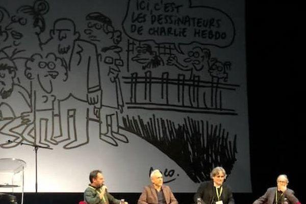 Un dessin de Coco qui évoque le quotidien, à jamais changé, de la rédaction de Charlie Hebdo après l'attentat.