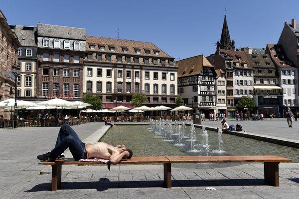 Les étés alsaciens sont de plus en plus sujets aux pics de chaleur, comme ici en 2015.