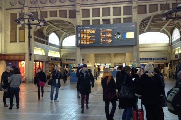 La gare de Rouen ce jeudi matin