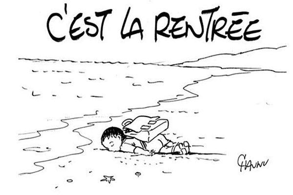 E. Chaunu menacé de mort pour avoir fait ce dessin à propos de la mort du petit Aylan Kurdi