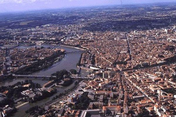 Toulouse, vue du ciel