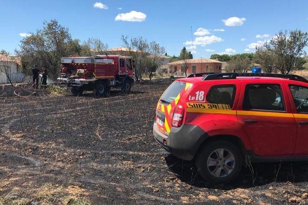 L'incendie s'est déclaré à seulement quelques mètres d'un lotissement - 20.06.20