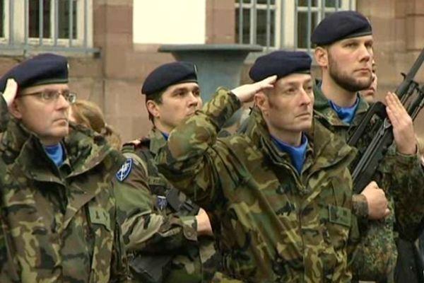 Une cérémonie a été organisée le 31 janvier à Strasbourg pour les 20 ans de l'Eurocorps
