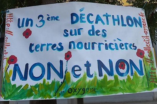 Montpellier : polémique et manifestation autour du projet de zone d'activité à Saint-Clément-de-Rivière - septembre 2019.