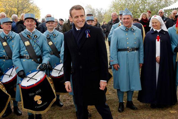 Emmanuel Macron était à Morhange, en Moselle, ce lundi 5 novembre. Il quittera la Lorraine mardi après-midi pour la Champagne.
