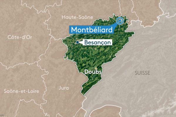 Les faits se sont déroulés sur la commune de Montbéliard.