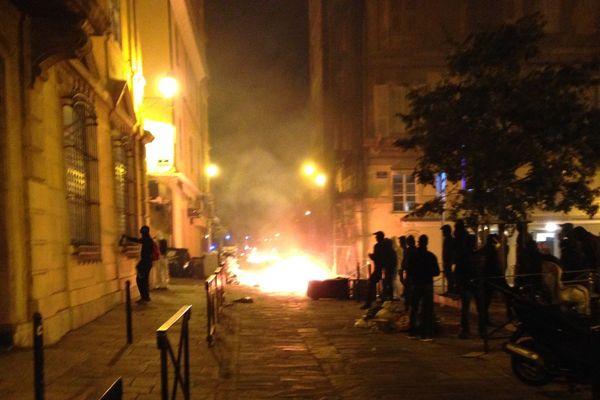 Les affrontements ont commencé place Saint-Nicolas à Bastia pour se finir Place du marché.