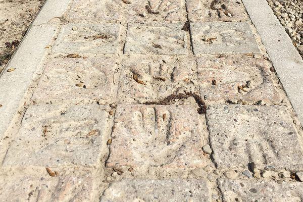 Durant cette randonnée, vous pourrez admirer et suivre l'oeuvre d'Anni Kenn-Fontaine. Des mains d'enfants sont moulées dans du béton.