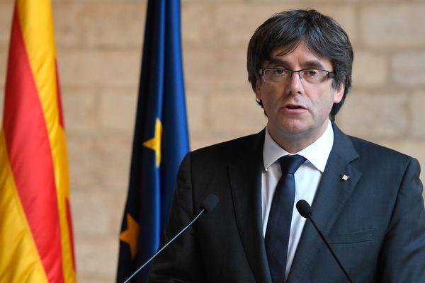 Carles Puigdemont à Barcelone le 26 octobre 2017