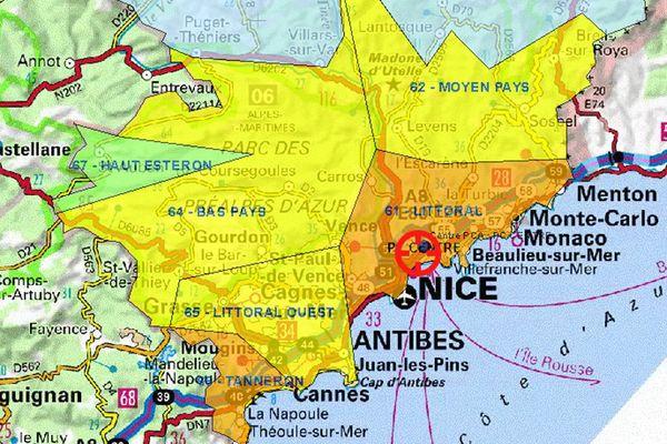 Les Alpes-Maritimes sont en alerte Orange ce dimanche.