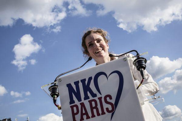 Nathalie Kosciusko Morizet lors de son premier meeting de campagne, place de la Bastille, le 30 juin 2013.