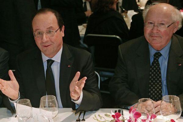François Hollande et Serge Klarsfeld au dîner annuel du Crif le 4 mars 2014.