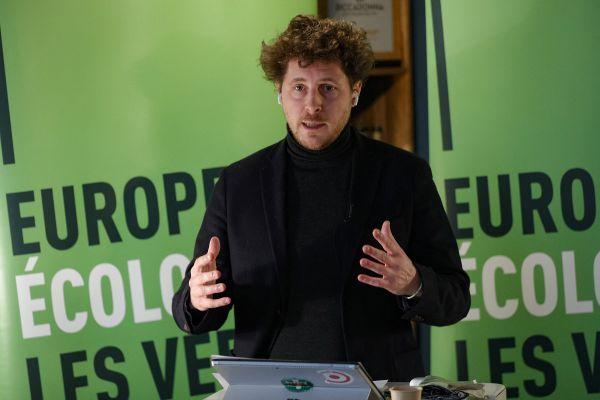 Julien Bayou, tête de liste Ecologie Evidemment pour les élections régionales en juin prochain. 19 janvier 2021