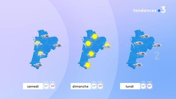Une nouvelle dégradation pluvieuse gagnera la région samedi. Dimanche, le soleil sera de retour mais de courte durée puisque les perturbations reviendront lundi.