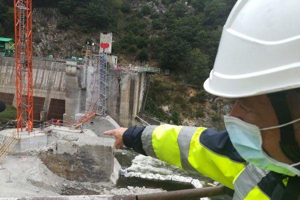 En Haute-Loire, les travaux d'aménagement du barrage de Poutès entrent dans leur dernière phase en ce mois de septembre, et se termineront en 2022.
