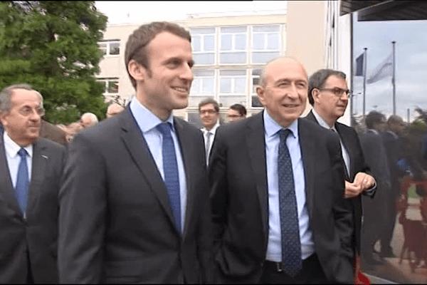 Emmanuel Macron à Lyon aux côtés de Gérard Collomb - archives juin 2016