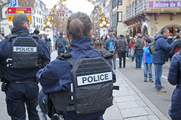 Policiers à Strasbourg.