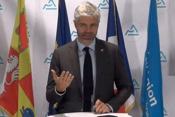 Le président LR de la Région Auvergne-Rhône-Alpes Laurent Wauquiez a profité de ses voeux (en ligne) à la presse pour tracer ses lignes directrices pour 2021