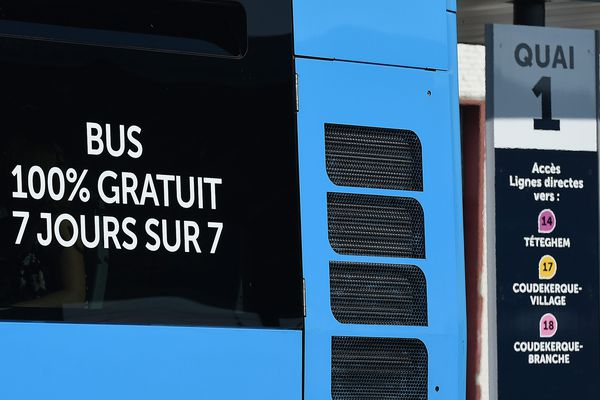 Un bus à Dunkerque