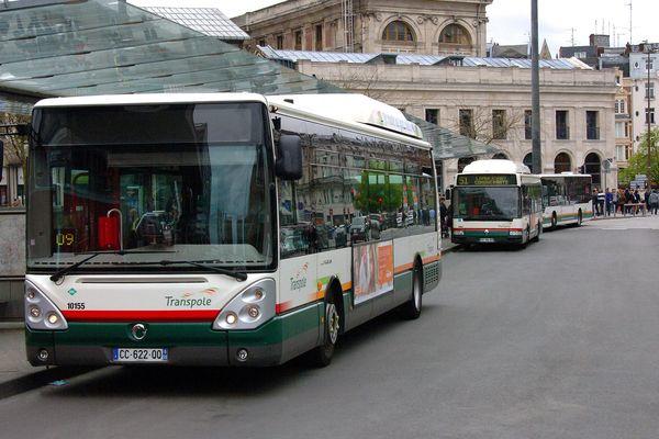 Un bus de Transpole à la gare Lille Flandres. (Illustration)